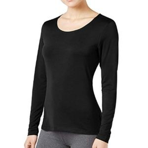 32 Degrees Cozy Heat Long-Sleeve Top Black L